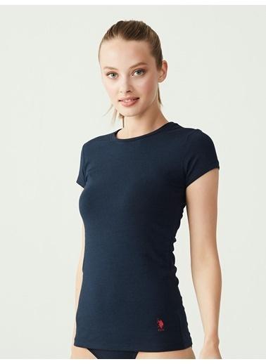 U.S. Polo Assn. Kısa Kollu Yuvarlak Yaka T-Shirt Lacivert